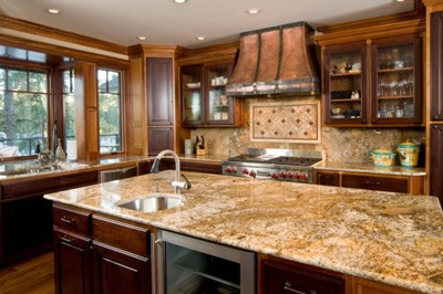 Granite countertops in kichen