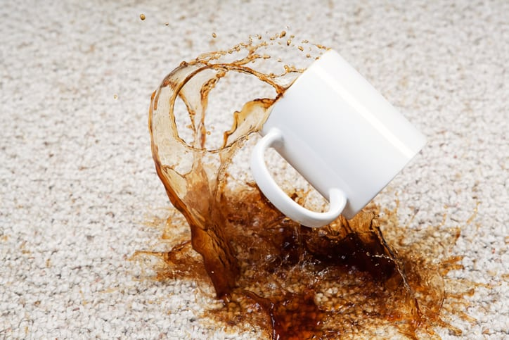 Coffee Stains on Carpet